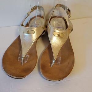 Ralph Lauren gold sandals size 7.5B